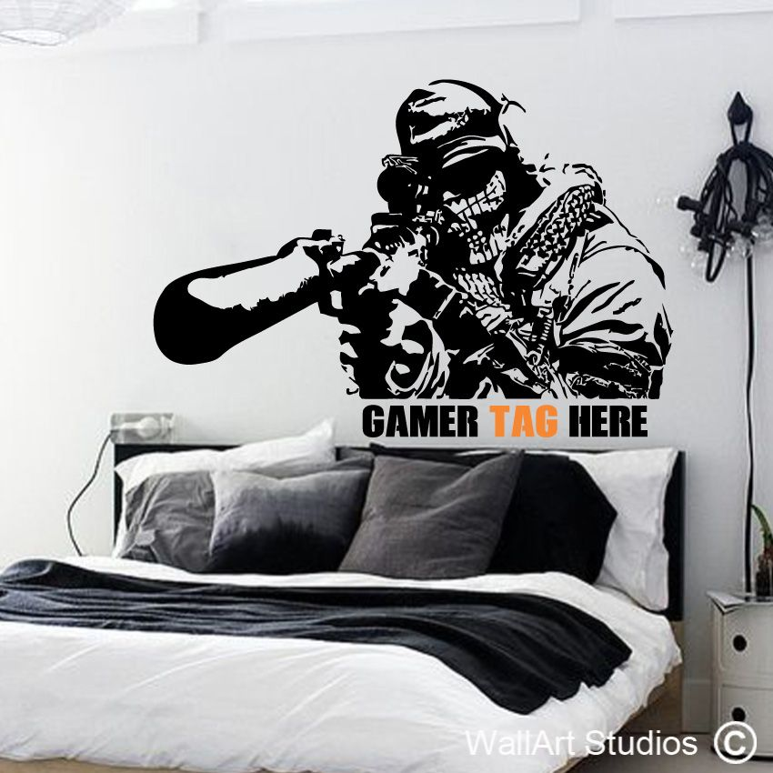 Call of duty black ops 2 wall art vinyl in 2020 gamer