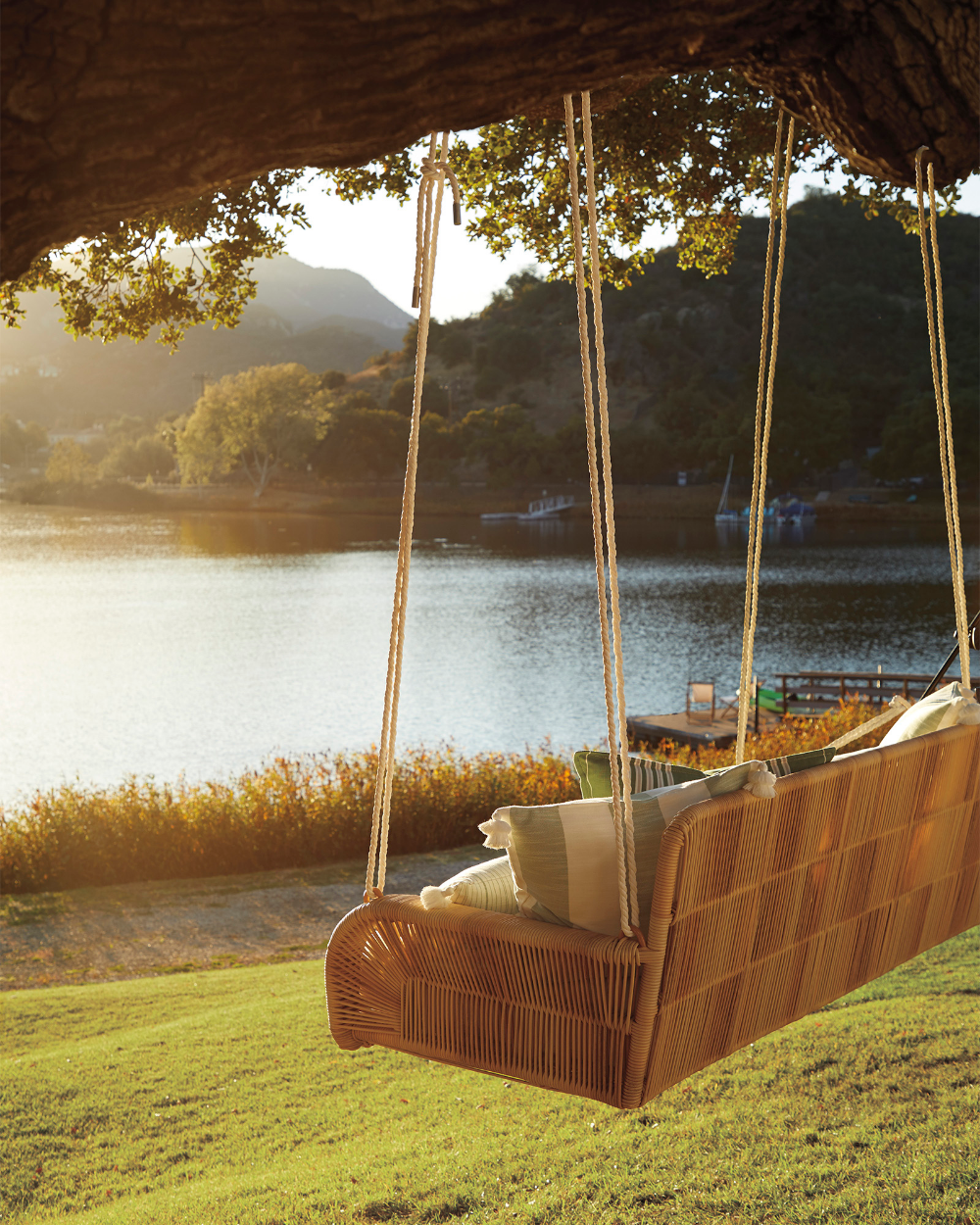 Springwood Hanging Daybed In 2020 Hanging Daybed Outdoor Porch Swing