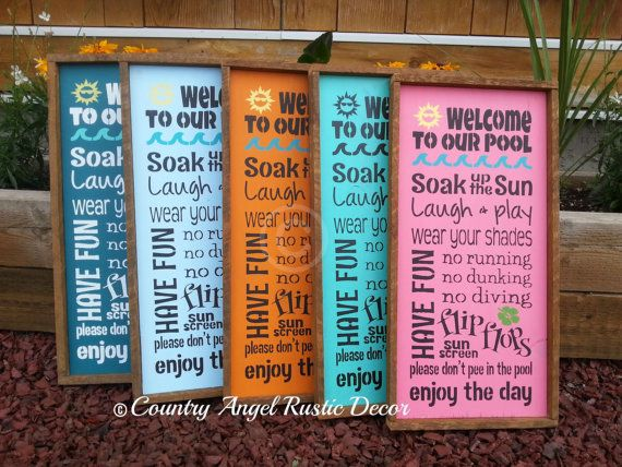WELCOME TO OUR DECK sign country rustic farmhouse assorted colors
