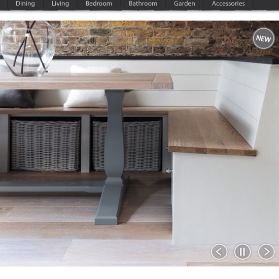 Dining Table And Banquette From Neptune