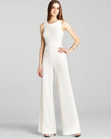 d515967c3581 After Wedding Look! bcbgmaxazria cute off white jumpsuit helena sleeveless