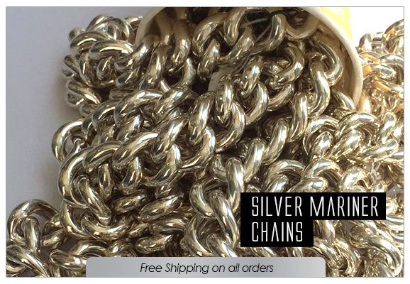 925 Sterling silver Hollow Anchor Chain by the Foot 3x10mm Gold