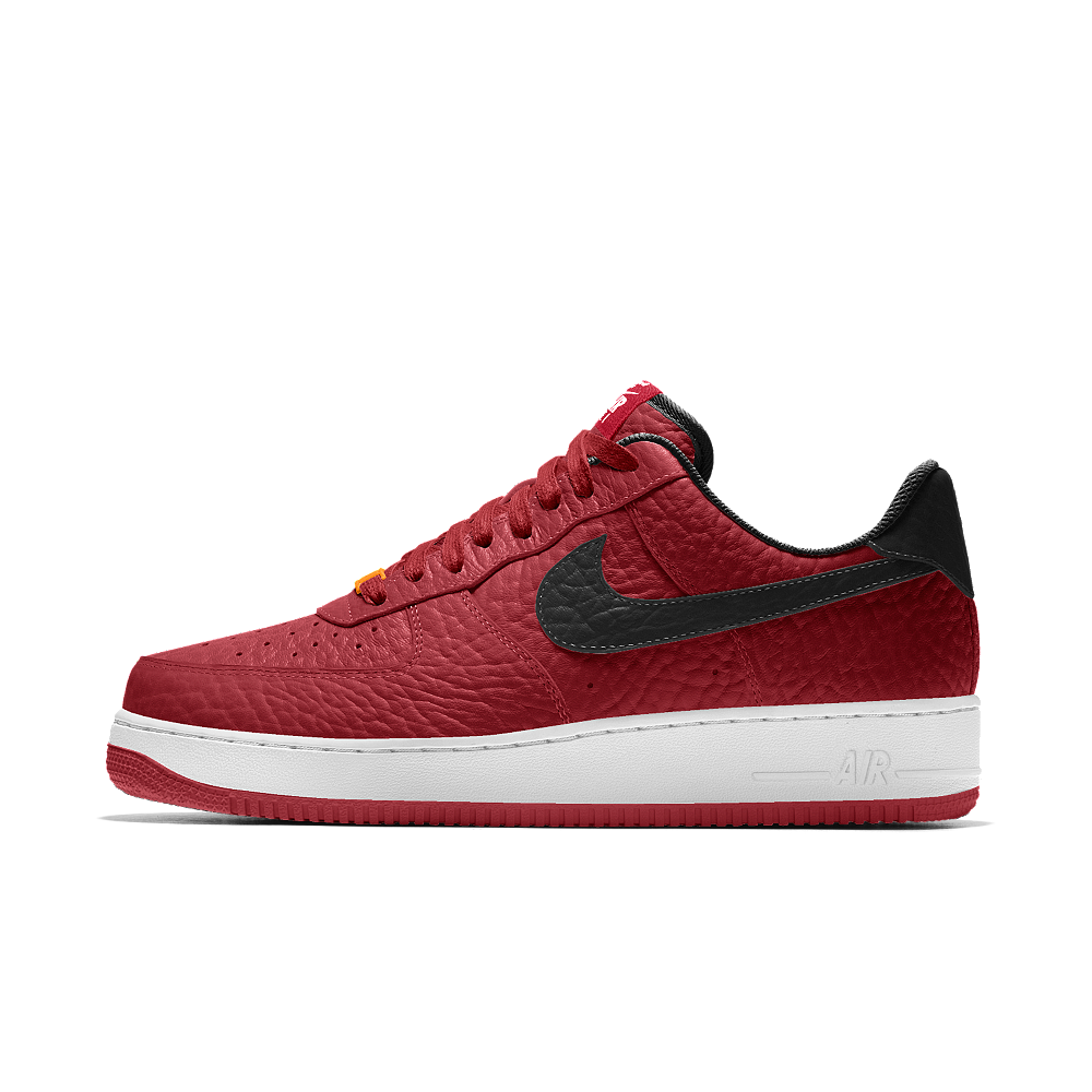purchase cheap b4f00 471e7 Nike Air Force 1 Low Premium iD (Miami Heat) Men's Shoe Size 12.5 (Red)