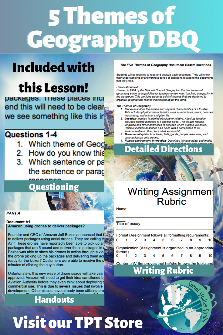 Geography/World History Teacher/Sub DBQ: 5 Geography Themes | High