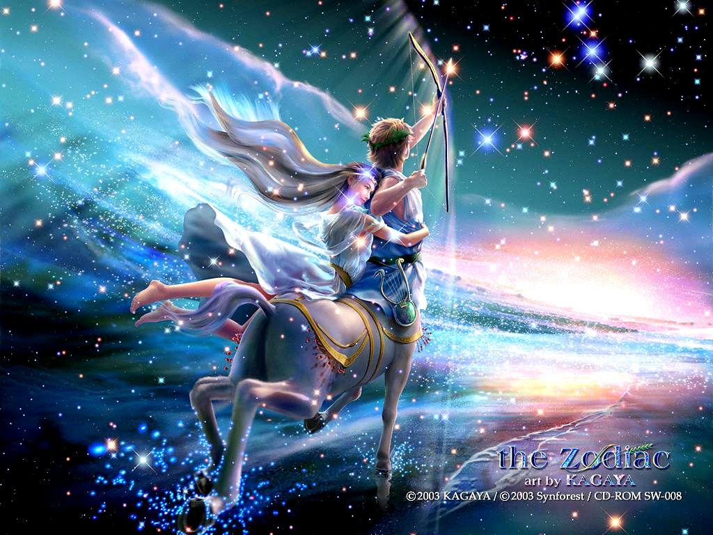 Yutaka Kagaya Sagittarius Wallpaper Zodiac Art Zodiac Sagittarius