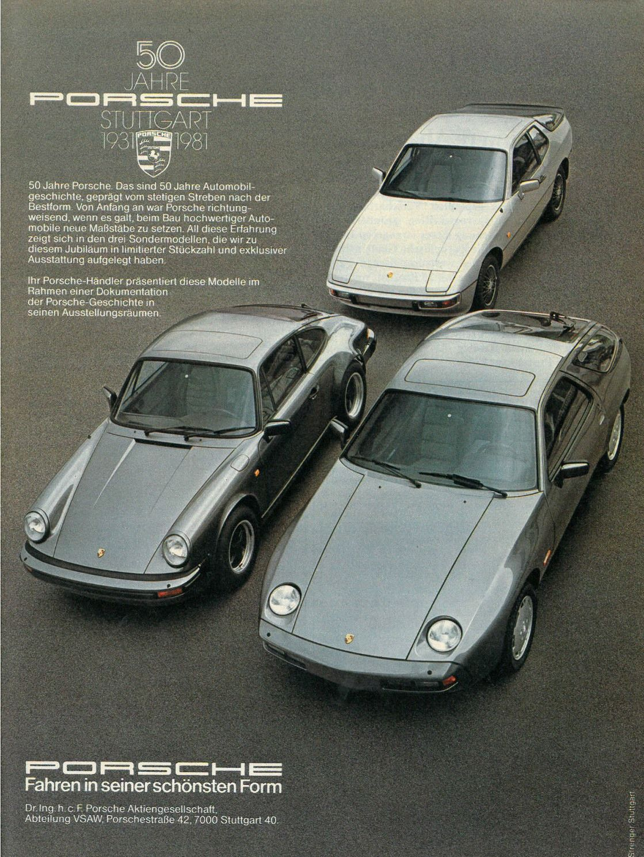 50 Jahre Porsche 1931 1981 Porsche Vintage Porsche Porsche Cars