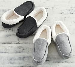 Faux Fur Slippers Moccasins Mens Moccasins Flannel Robe