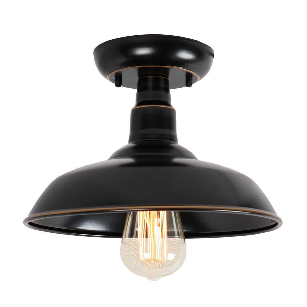 Oil Rubbed Bronze 1 Light Outdoor Ceiling Mounted Flush Mount Lighting El0500ib Flush Mount Lighting Outdoor Ceiling Lights Ceiling Lights