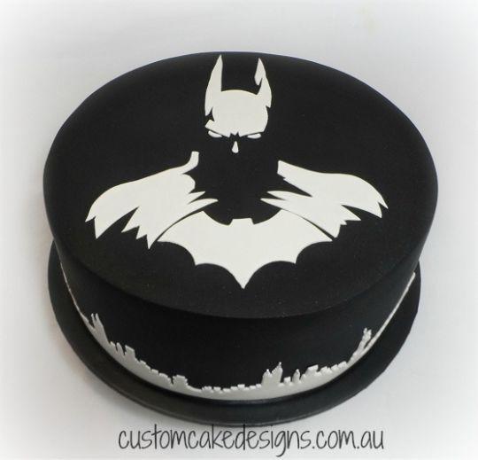 Batman Dark Knight Sætar Kökur  Sweet Cakes Pinterest - Dark knight birthday cake