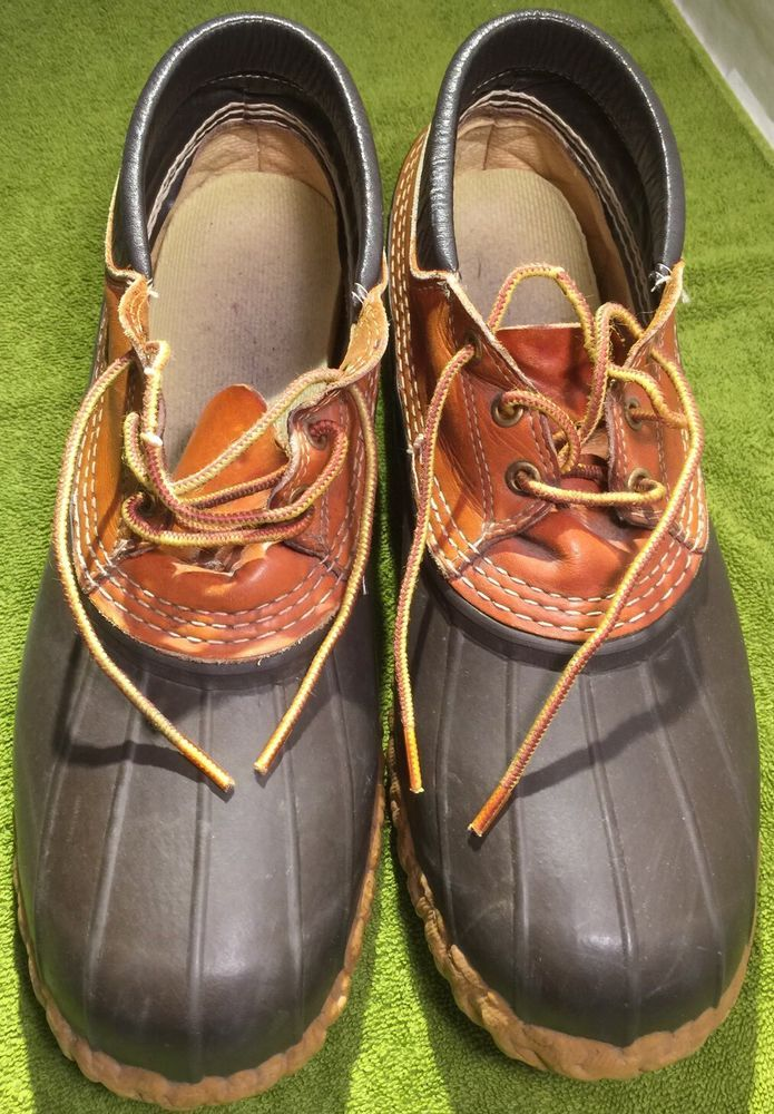 4378415886b The Original LL Bean Gumshoe Ankle Duck Boots Mocs Size 11 GW Lace Up Made  Maine  LLBean  AnkleBoots