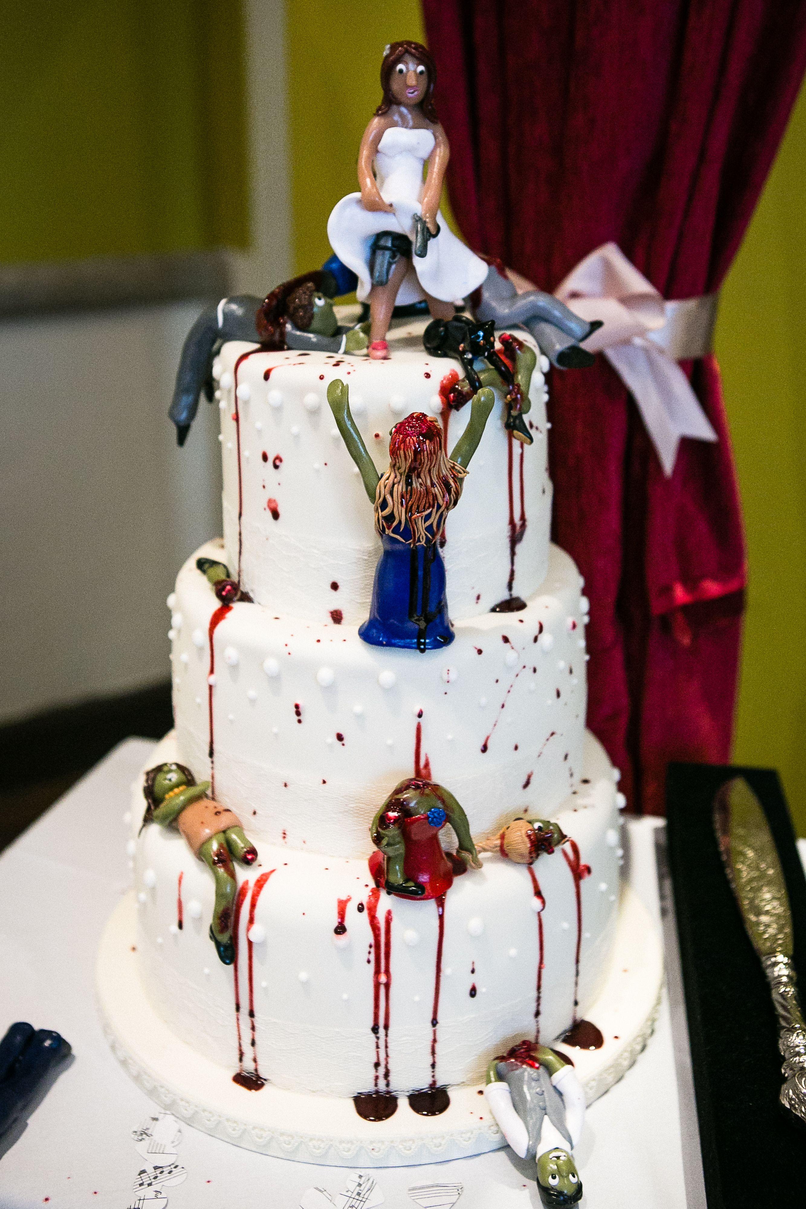Zombie Wedding Cake Cake That I Have Made Pinterest Zombie