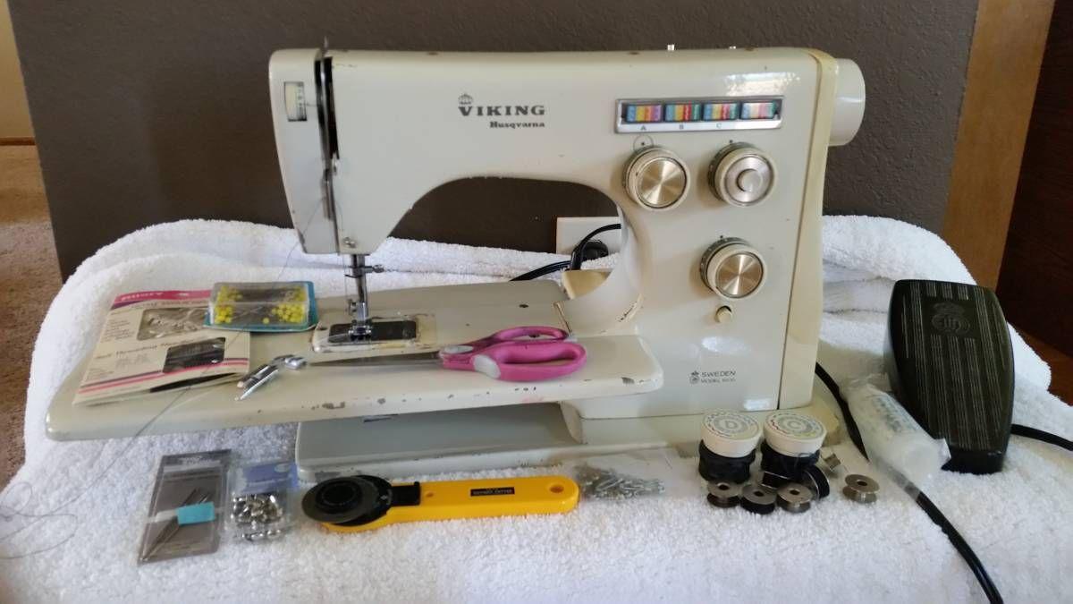 VIKING HUSQVARNA SWEDEN MODEL 6010 SEWING MACHING Viking Sewing Machine,  Vintage Sewing Machines, Vikings