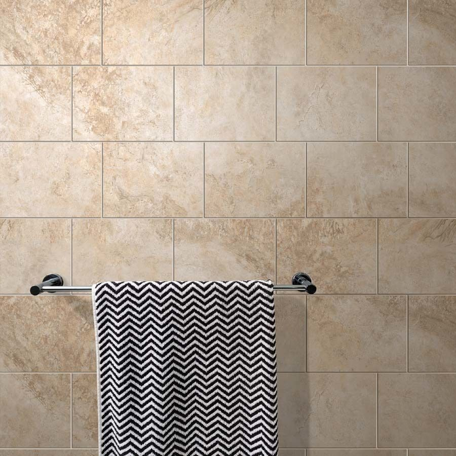 Style Selections Mesa Beige Porcelain Floor And Wall Tile Common X Actual At Lowe S Is A Beautiful Stone Look That Will Add