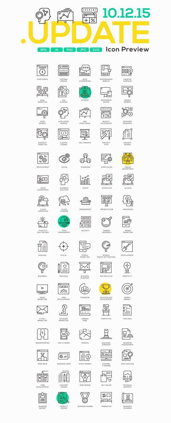 100 Business Concept Icons   Pinterest