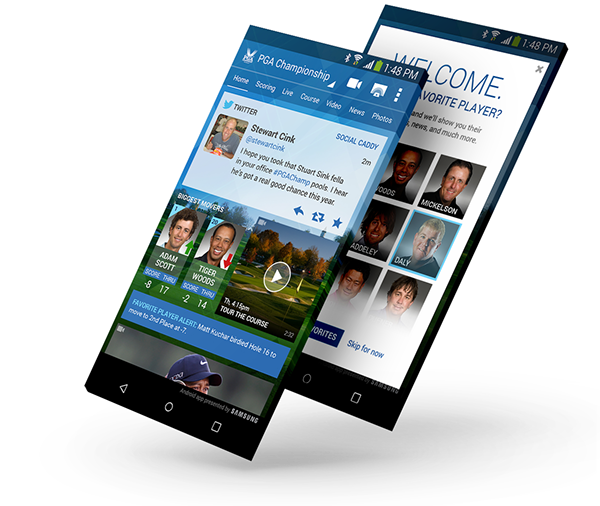 PGA Championship on Behance Samsung smart tv, Android