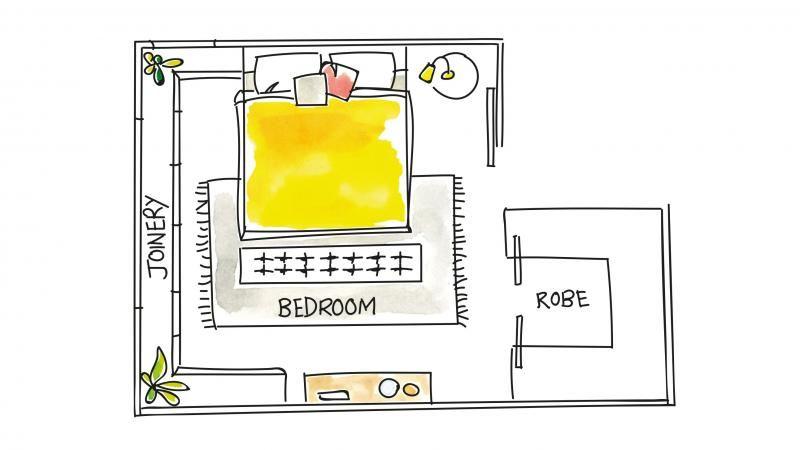 Bedroom Layout Wardrobe Aug15