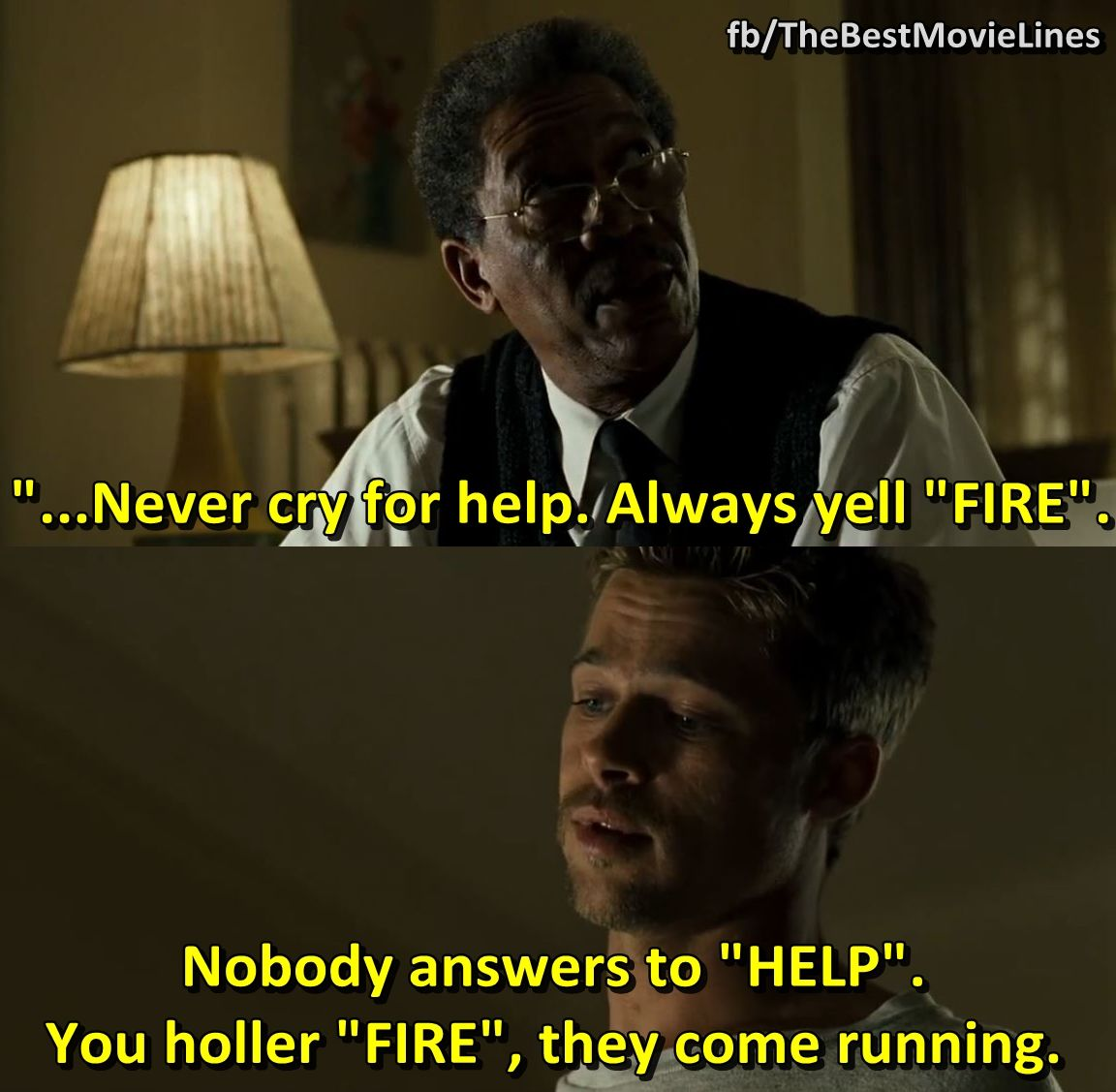 Quotes From The Movie The Help Se7En Seven 1995 Brad Pitt Morgan Freeman Kevin Spacey Dir