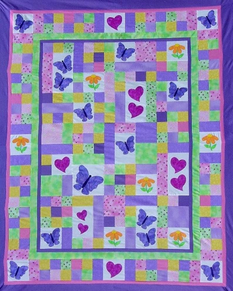TWIN Quilt PATTERN PDF twin size bed quilt child