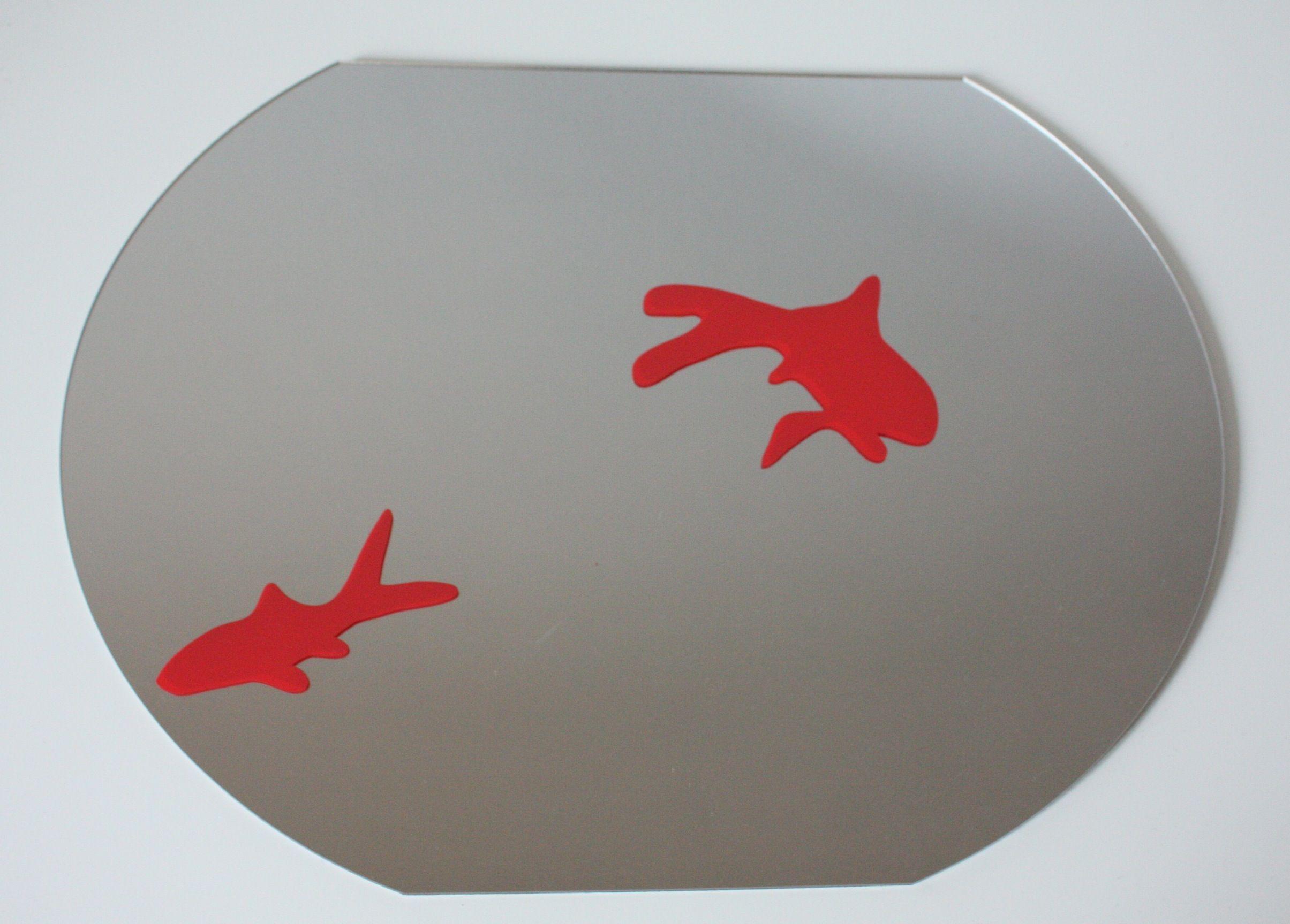Miroir bocal poissons rouges - Boutique MLC