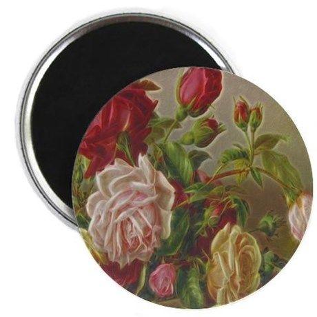 Vintage Flowers Magnet on CafePress.com