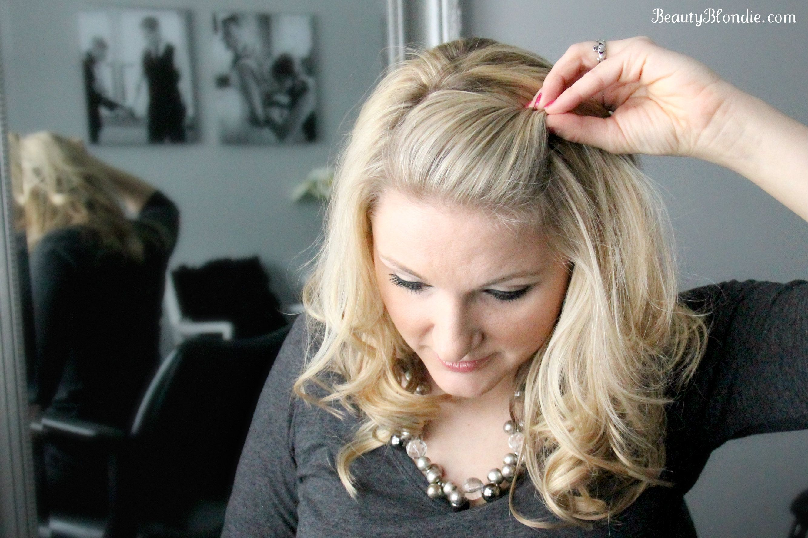 Pulled Back Hair Styles: With The Opened End Of The Bobby Pin Facing The Front Of