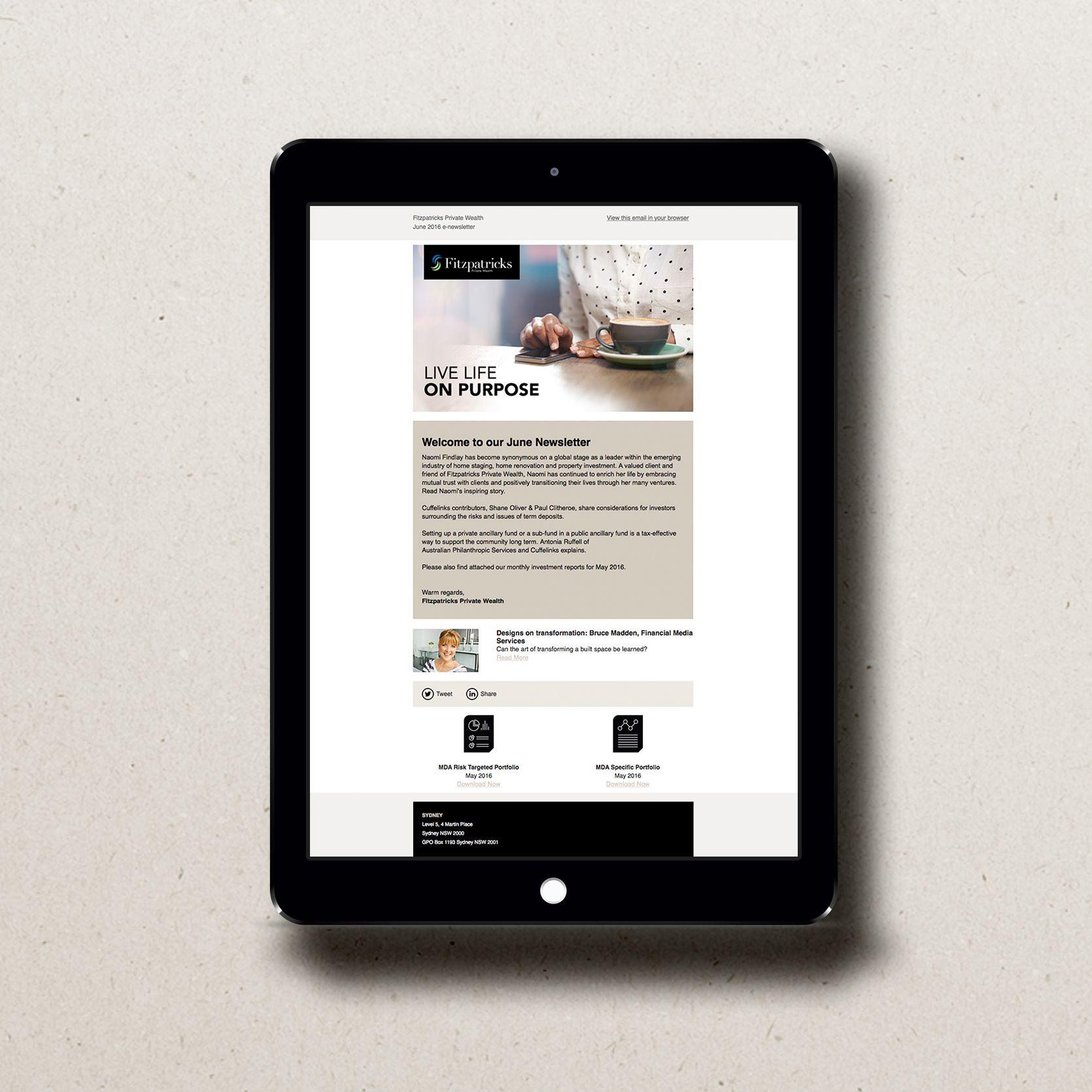 You Ve Got Mail Edm Design For Fitzpatricks Creatik Design Creatikdesign Creativeagency Sydneydesignstudio C Logo Design Creative Agency Minimal Design