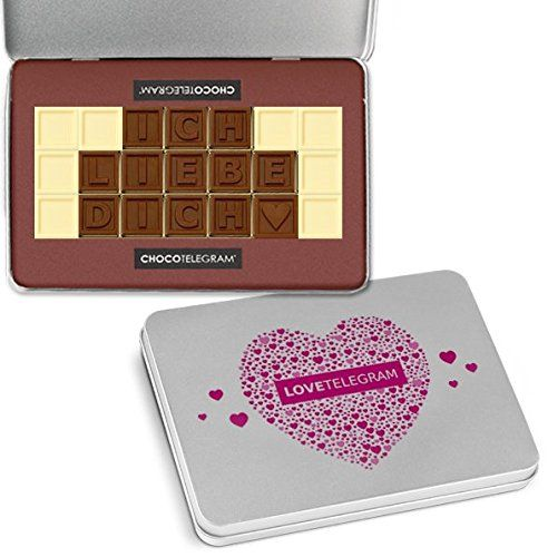 ICH LIEBE DICH - ChocoTelegram - Valentinstag Geschenk