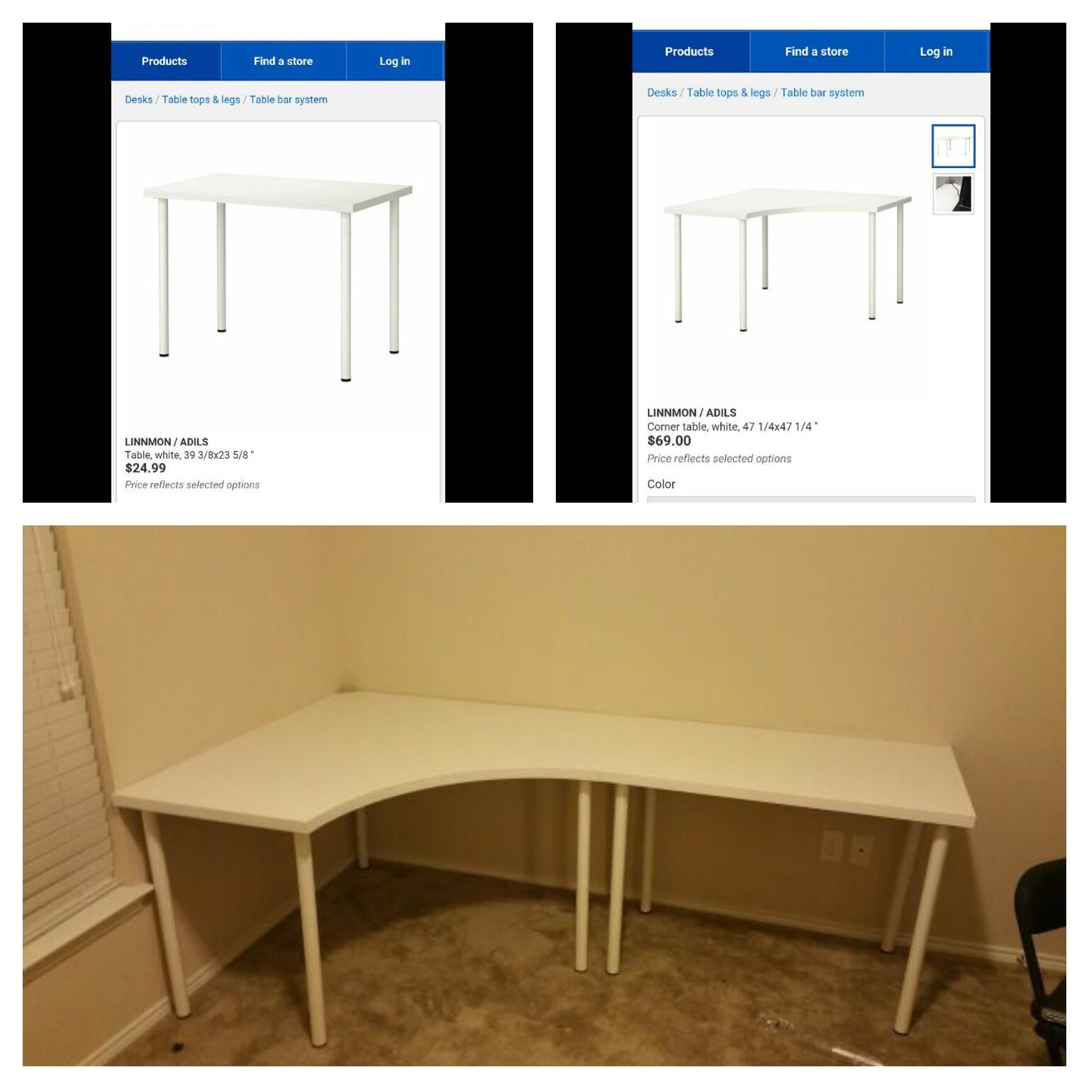 99 Ikea Linnmon Corner Desk Expensive Home Office Furniture