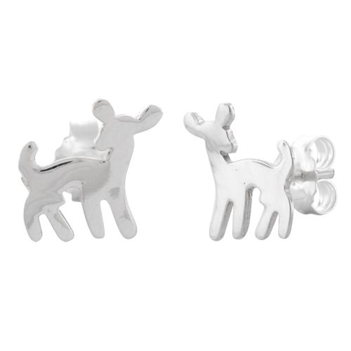 Sterling Silver Deer Earrings - Dreamland Jewelry $5.62
