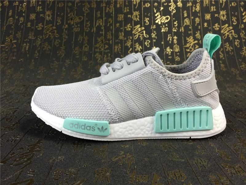 Volcánico Distribuir Series de tiempo  KEEVIN Adidas NMD_R1 Gray green Boost pk running shoes | Nmd shoes ...
