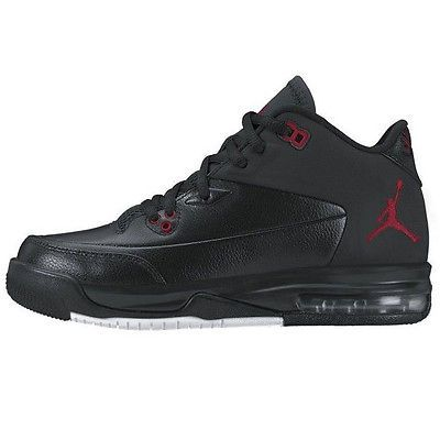 sports shoes f8053 692f1 Nike Jordan Flight Origin 3 Gs Big Kids 820246-001 Black Red Shoes Youth Sz  4.5