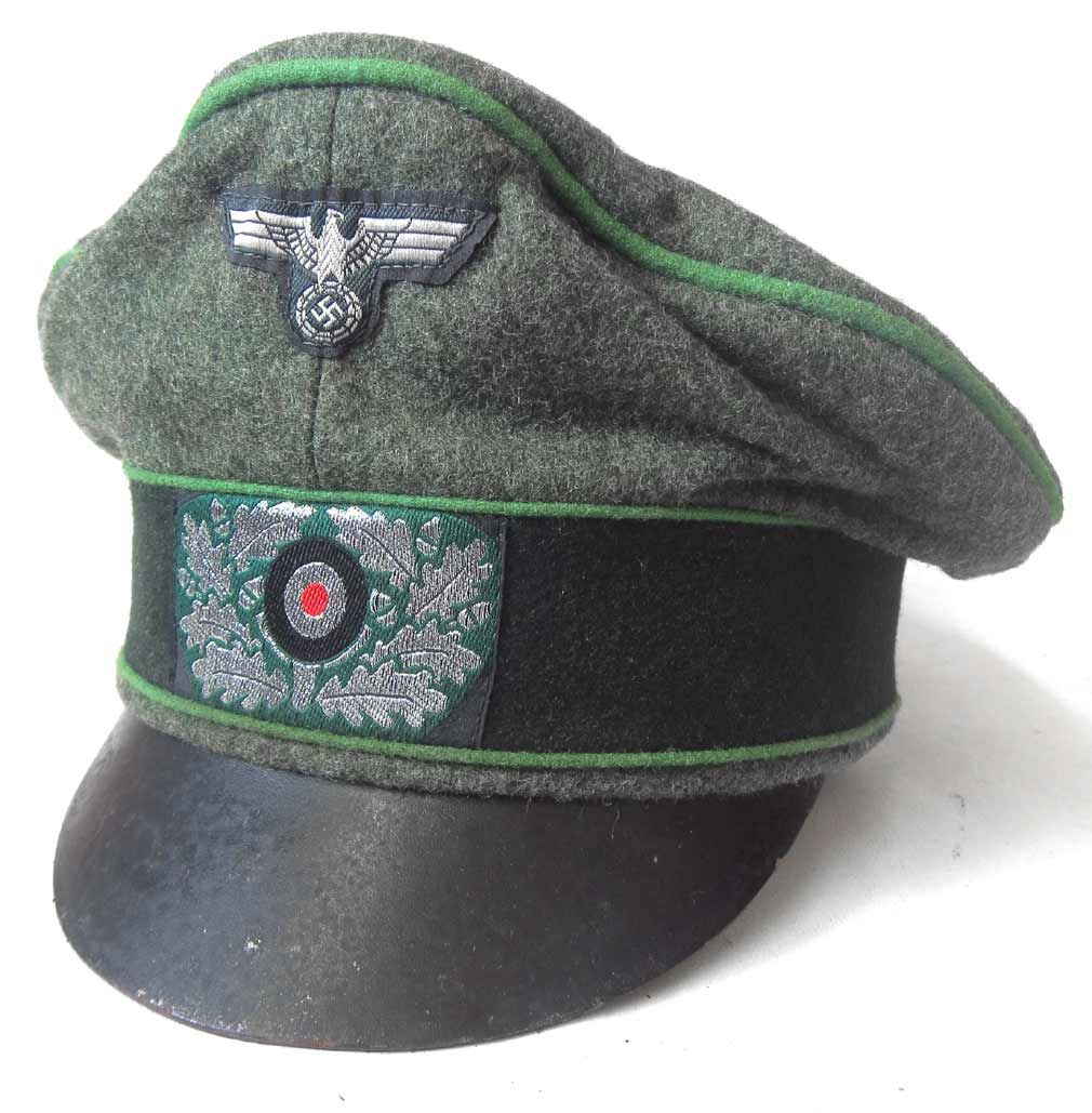 German Army Officers Panzer Grenadier Crusher Cap - Feldmutze Alter-Art -  Lightly Worn. 47d3581f4a3