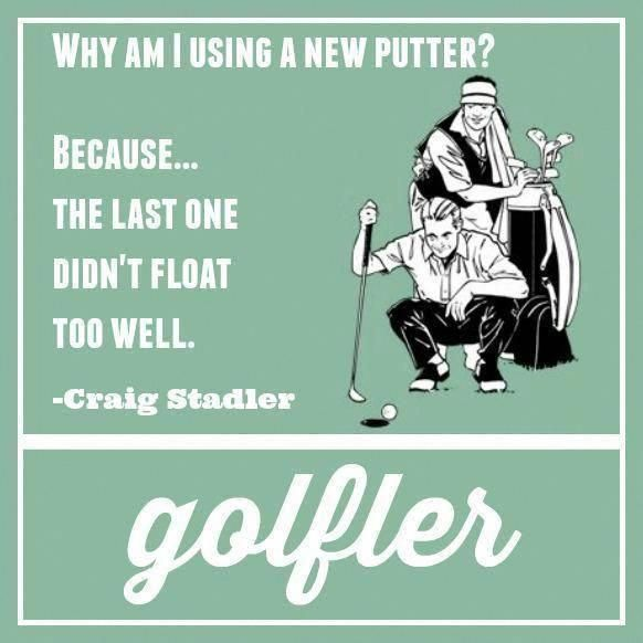 Must invent floating putter grips! #Golf #Humor #Jokes #golfclubgrips #Golfhumor #golfjokes #golfingjokes #golfhumour #GolfhumorHilarious #golfhumor