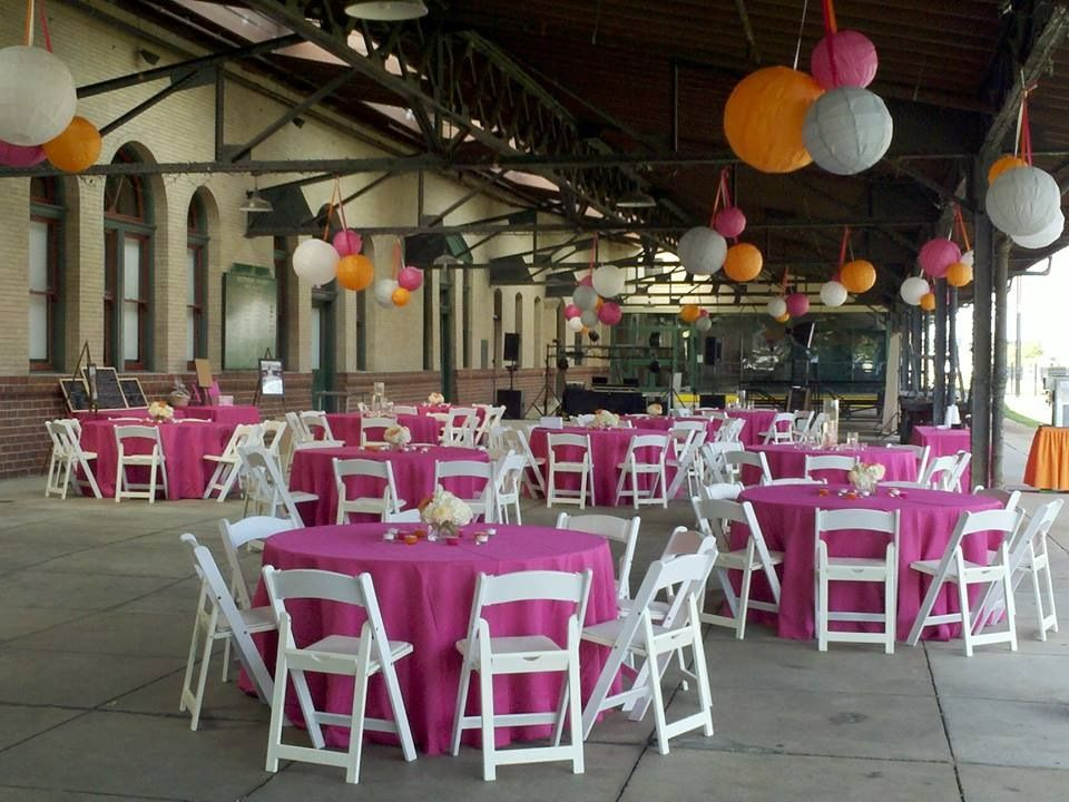 Pink And Orange Wedding Reception At The Historic Salisbury Train