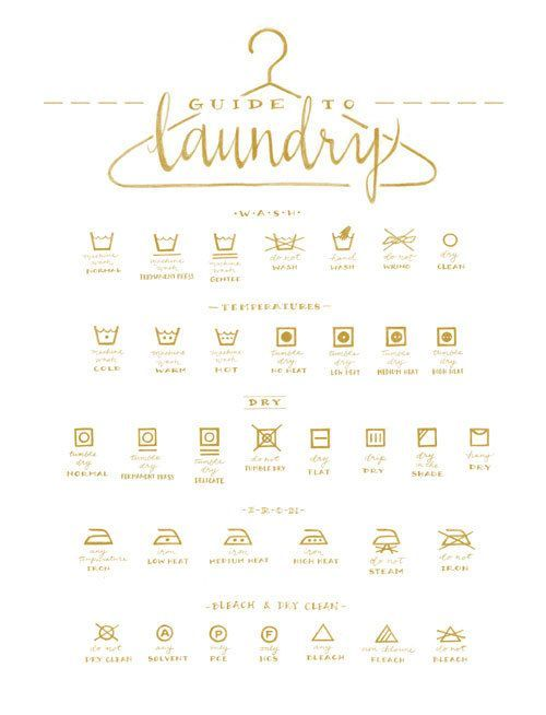 Christmas Gift Idea For Mom Gold Laundry Symbols Guide