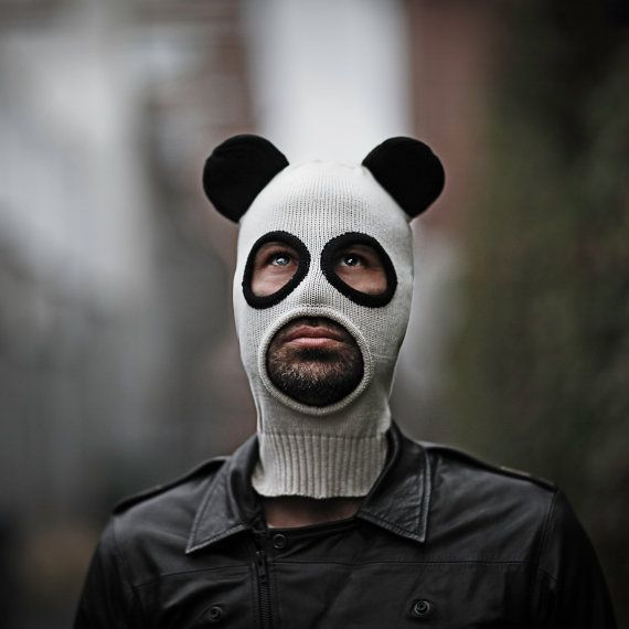 9d72afaf5d4 Pandito Balaclava Men and Women - Panda Mask - Designer Spencer Hansen for  Blamo Toys on Etsy
