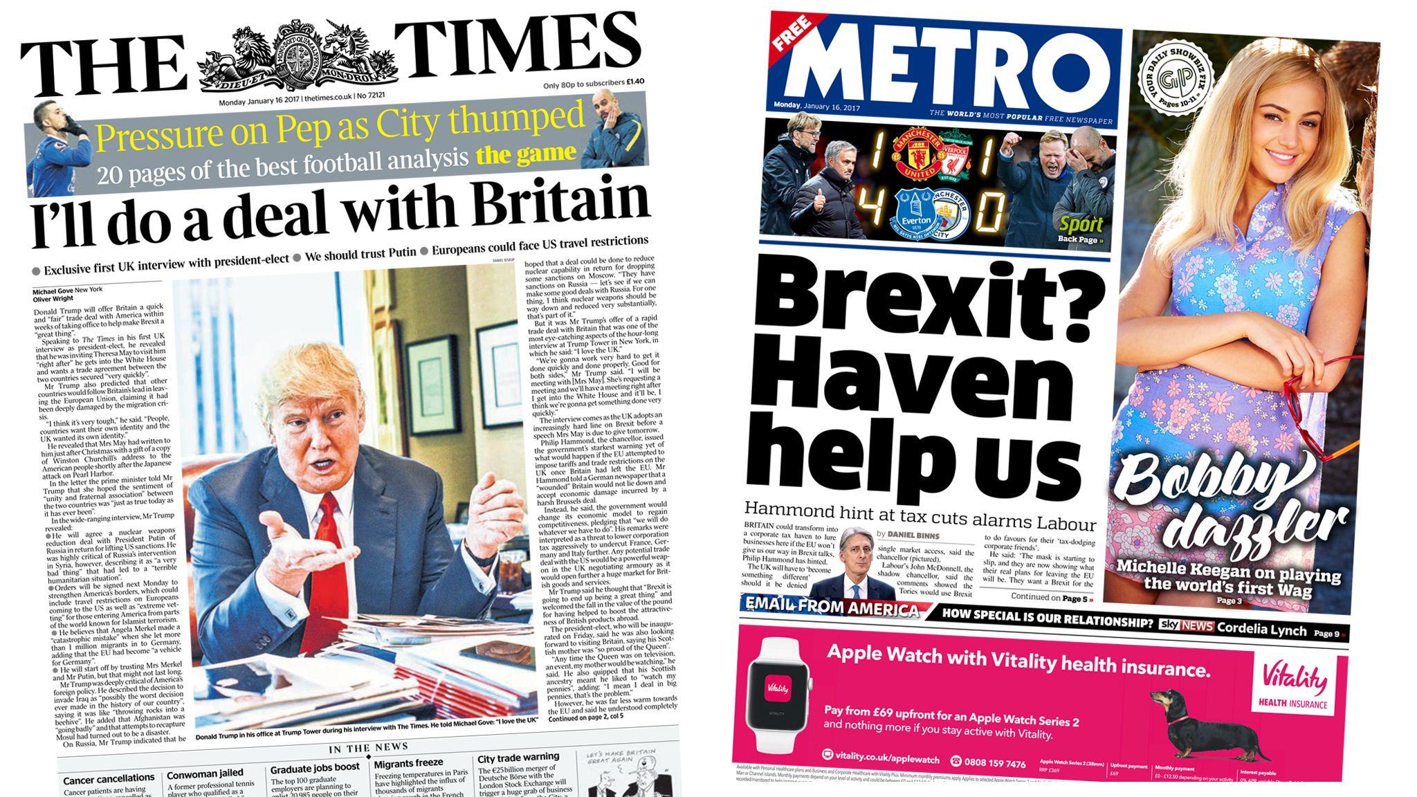 'I'll make Brexit great' Football analysis, Newspaper