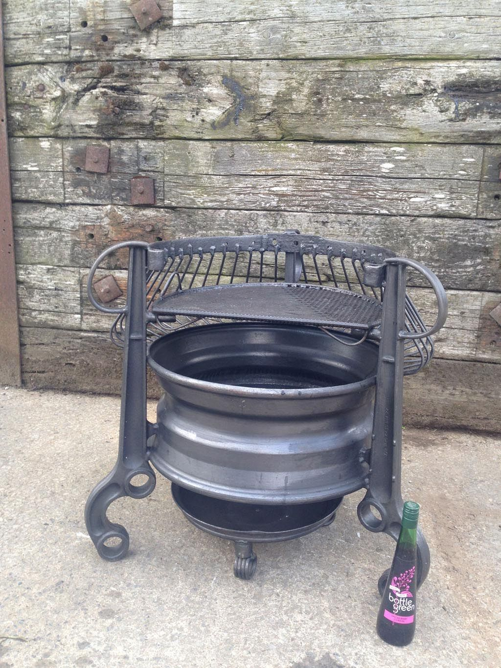 Old Tractor Rims Fire Pit Fire Pit In 2019 Rim Fire