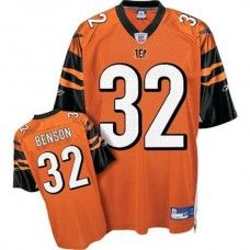 Bengals  32 Cedric Benson Orange Stitched NFL Jersey  4d9dff36f
