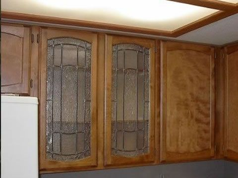 Wood and Glass Kitchen Cabinet | Kitchen Cabinet | Glass ...