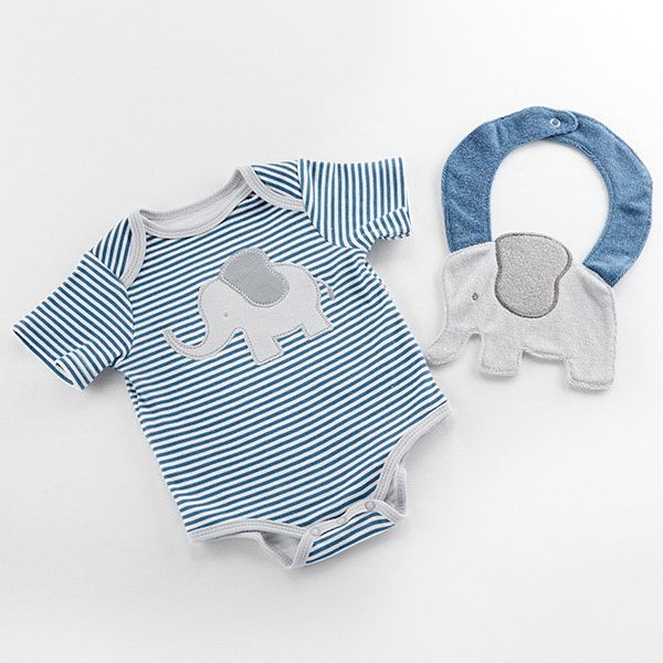 Baby aspen little peanut elephant layette and bib gift set blue baby aspen little peanut elephant layette and bib gift set blue negle Images