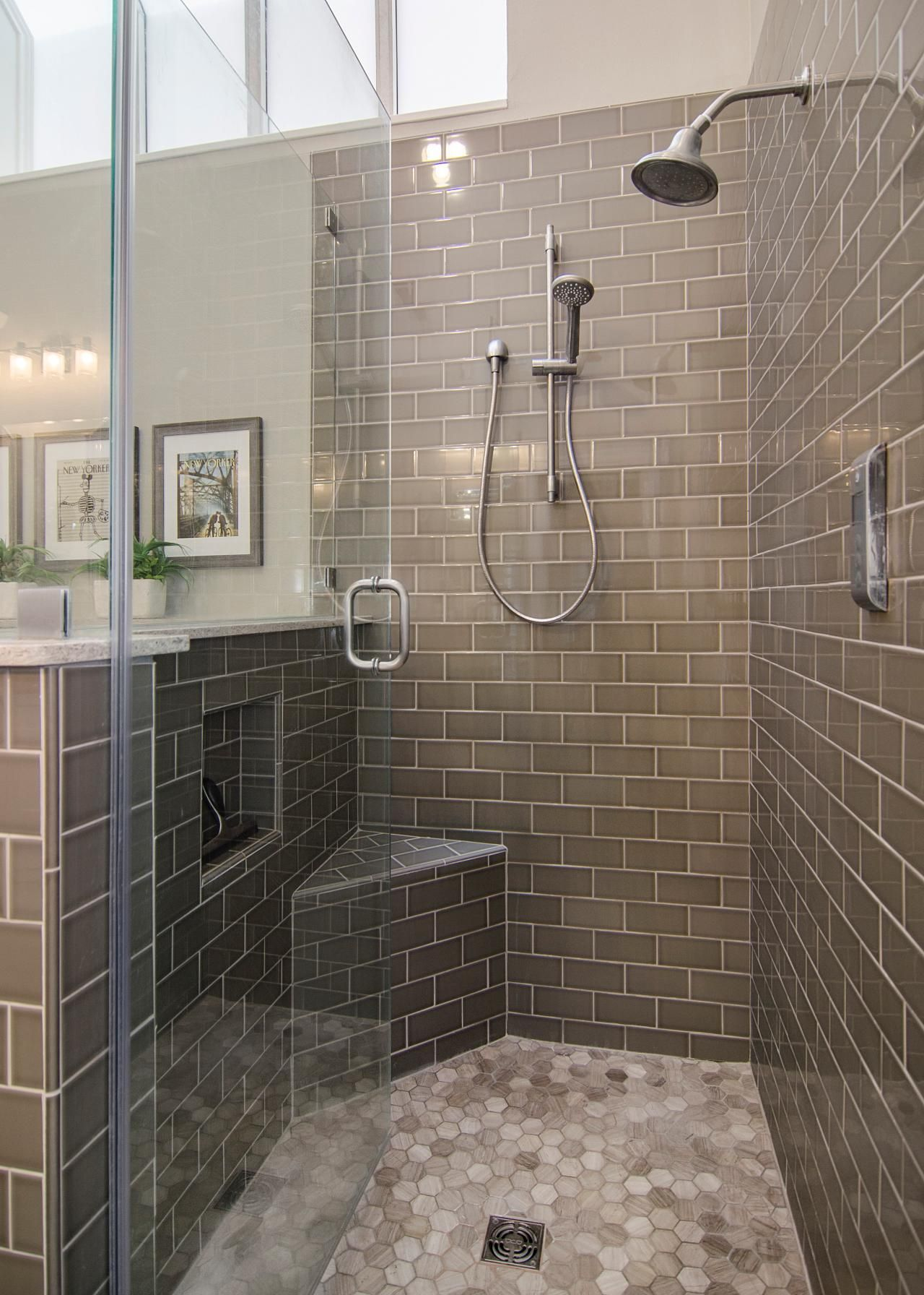The back splash in the haires 39 master bathroom adds a for Master bathroom tile pictures