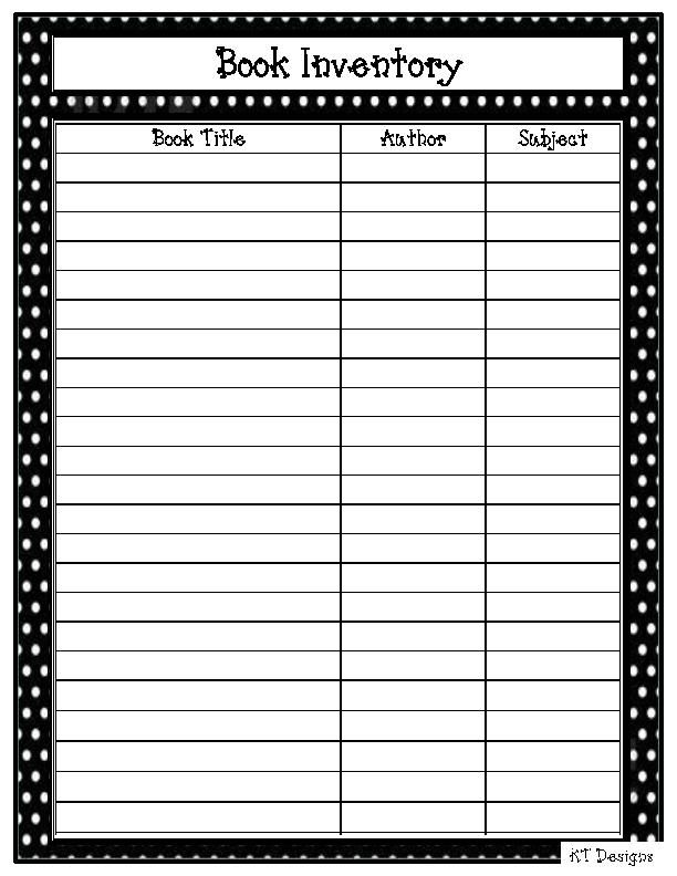 Image for Printable Blank Inventory Spreadsheet Projects to Try - blank preadsheet