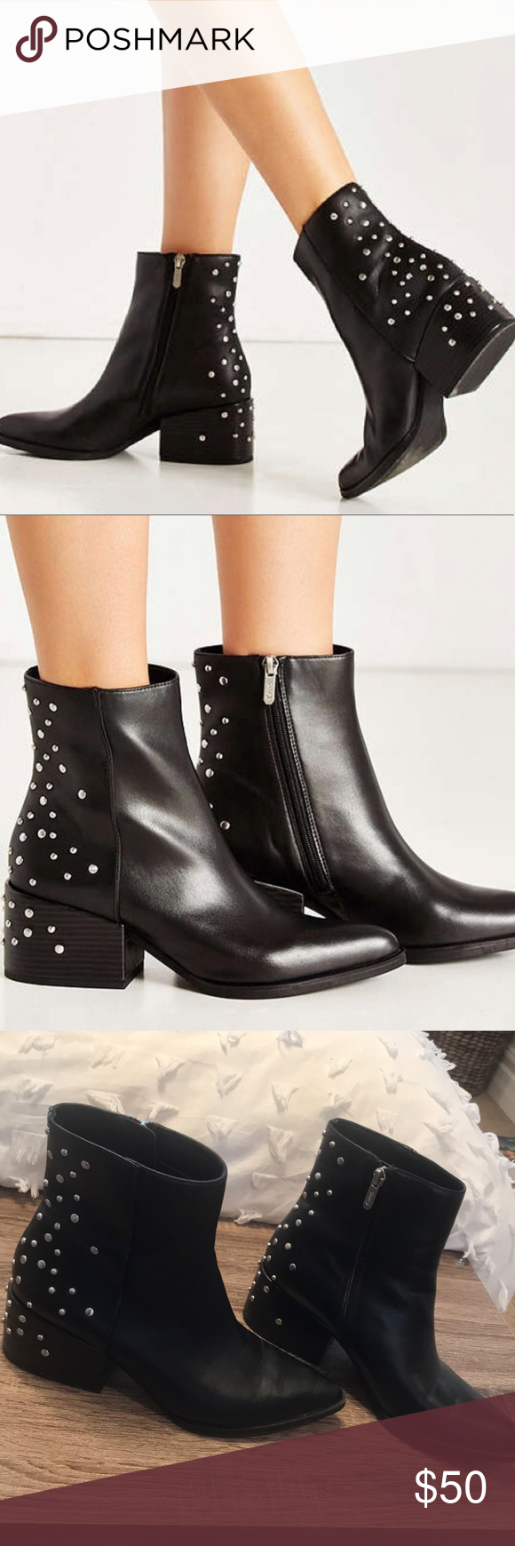7d460fb16f3efa Circus by Sam Edelman Rae studded bootie Circus by Sam Edelman Rae studded  black boot in