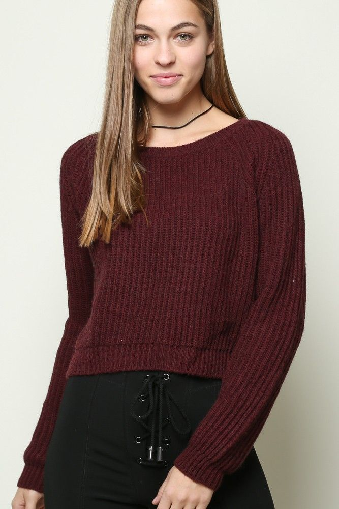 Brandy Gwen Maroon Sweater Dupe Not actual Brandy! But looks exactly like  it ) size small from AF, no flaws Brandy Melville Sweaters Crew \u0026 Scoop  Necks