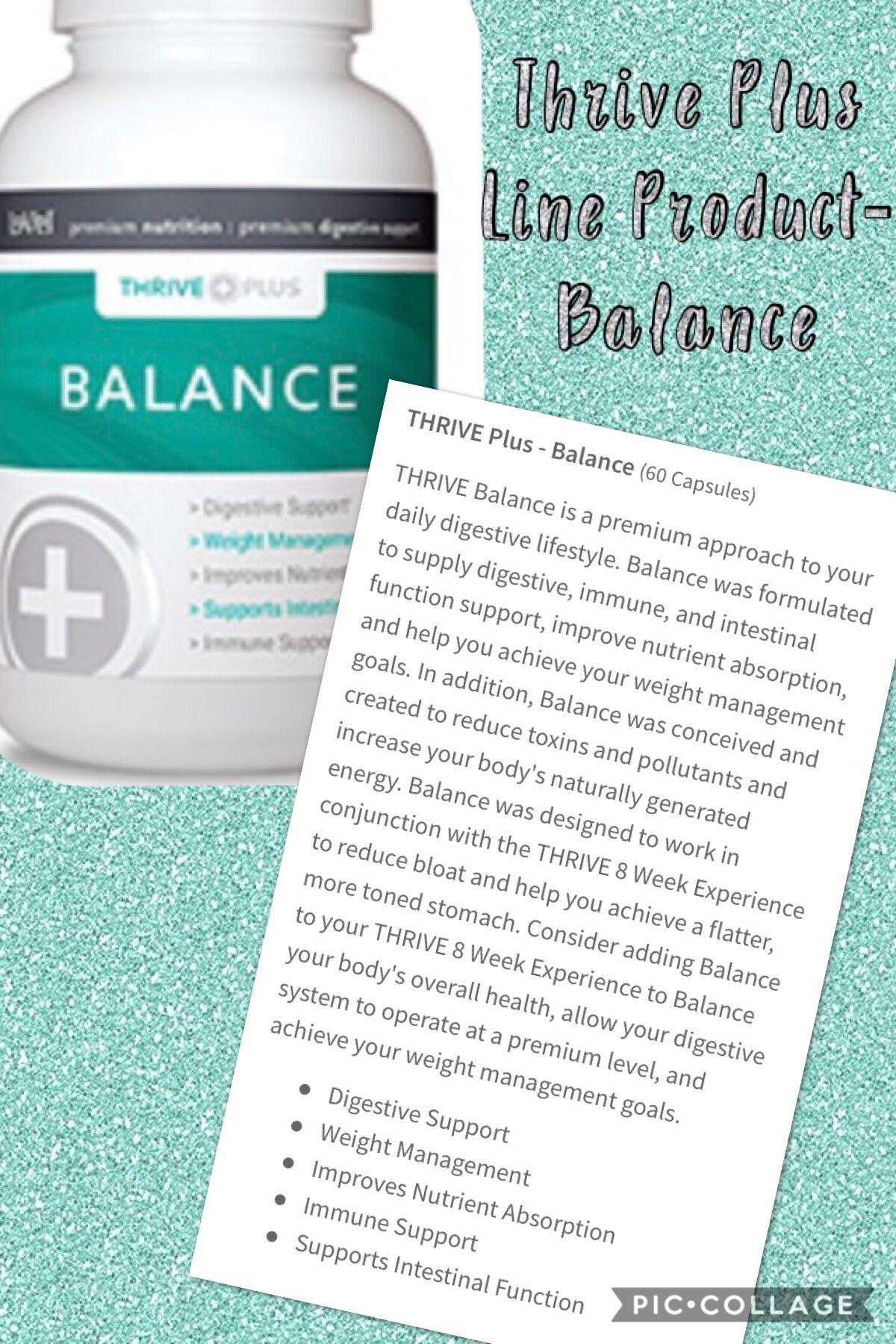 thrive balance diet pills