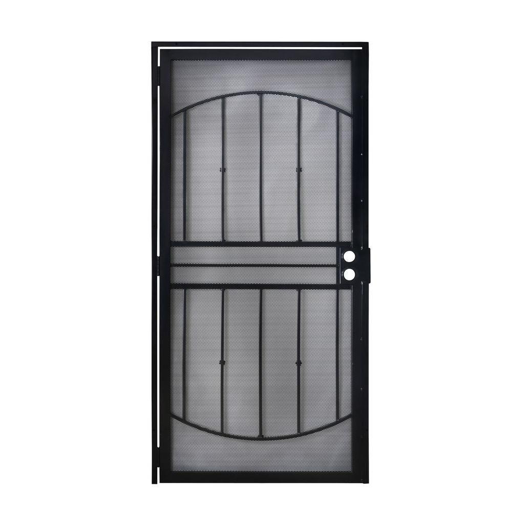 Grisham 36 In X 80 In 805 Series Black Defender Security Door