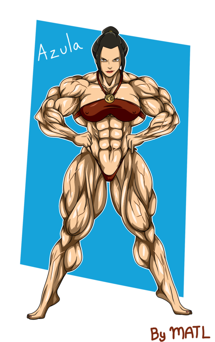 Avatar The Last Airbender Naked commission - azulamatl | azula, avatar world, muscle girls