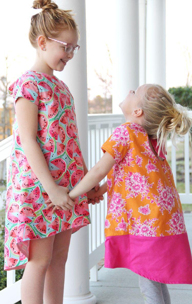 Knot Swing Dress - Free Pattern | Nähen