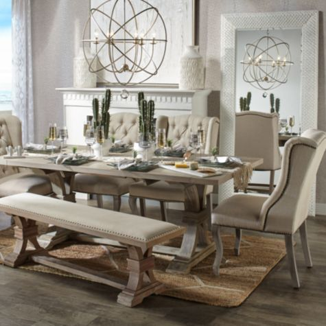 Archer Natural Grey Extending Dining Table Luxury Dining